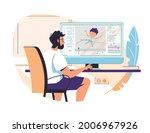 guy animator designer in... | Shutterstock .eps vector #2006967926