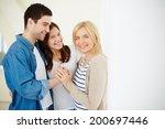portrait of happy family of... | Shutterstock . vector #200697446