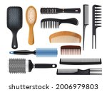 hairbrushes and combs realistic ... | Shutterstock .eps vector #2006979803