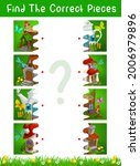 half pieces kids game with... | Shutterstock .eps vector #2006979896