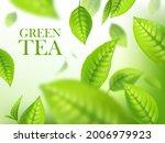 green tea leaves  organic... | Shutterstock .eps vector #2006979923