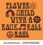 70s retro groovy flower child...   Shutterstock .eps vector #2006988080