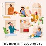 good neighborly relations... | Shutterstock .eps vector #2006988356