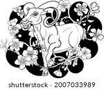 goat illustration for printing...   Shutterstock .eps vector #2007033989