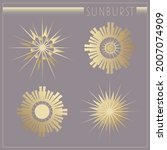 beautiful art deco sun elements ...   Shutterstock .eps vector #2007074909
