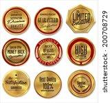 golden metal badges | Shutterstock .eps vector #200708729