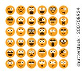 set of different smiling icons | Shutterstock .eps vector #200708924