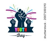 happy youth day  international... | Shutterstock .eps vector #2007100193