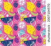 fruit seamless pattern ... | Shutterstock .eps vector #2007104570