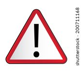 symbols triangular warning... | Shutterstock .eps vector #200711168