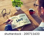 businessman with energy and... | Shutterstock . vector #200711633