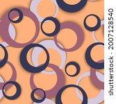 Circle Rings Modern Geometric...