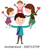 the view of family  | Shutterstock .eps vector #200713739