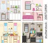 illustration of room | Shutterstock .eps vector #200713904