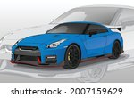 icon blue sport car vector...   Shutterstock .eps vector #2007159629