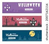 happy halloween day web header... | Shutterstock .eps vector #2007162116