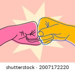 illustration of two bumping...   Shutterstock .eps vector #2007172220