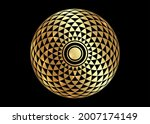 torus yantra  gold hypnotic eye ... | Shutterstock .eps vector #2007174149