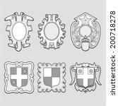 heraldry vector set   Shutterstock .eps vector #200718278
