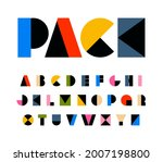 rainbow color art alphabet ... | Shutterstock .eps vector #2007198800