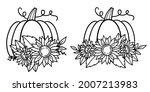 pumpkin. flower pumpkin.... | Shutterstock .eps vector #2007213983