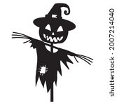 Halloween Scarecrow Silhouette...