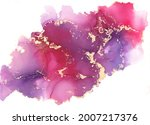 colorful and gold alcohol ink... | Shutterstock . vector #2007217376