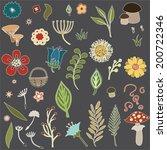 vector illustration of various... | Shutterstock .eps vector #200722346