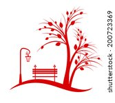 art tree silhouette isolated on ... | Shutterstock .eps vector #200723369