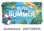 summer vacation baner layout... | Shutterstock .eps vector #2007238550