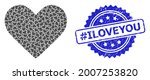 hashtag iloveyou unclean stamp...   Shutterstock .eps vector #2007253820