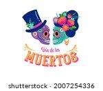 day of the dead  dia de los... | Shutterstock .eps vector #2007254336