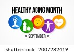 healthy aging month is observed ... | Shutterstock .eps vector #2007282419