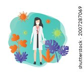doctor character. medical and... | Shutterstock .eps vector #2007287069