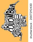 colombia map typographic map...   Shutterstock . vector #2007292430