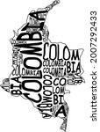 colombia map typographic map...   Shutterstock . vector #2007292433