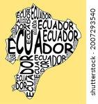 ecuador map typographic map...   Shutterstock . vector #2007293540