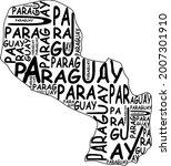 paraguay map typographic map...   Shutterstock .eps vector #2007301910
