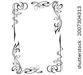 decorative rectangular frame... | Shutterstock .eps vector #2007304313