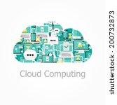 cloud computing. | Shutterstock .eps vector #200732873