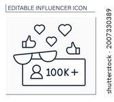 followers line icon. macro... | Shutterstock .eps vector #2007330389