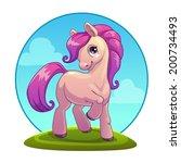little cartoon pony  vector | Shutterstock .eps vector #200734493