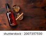 Scotch Whiskey Bottle  Glasses...