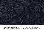 topographic map abstract... | Shutterstock .eps vector #2007368543