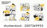 web development agency abstract ...   Shutterstock .eps vector #2007369953