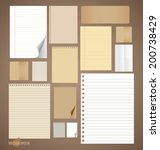 collection of various vintage... | Shutterstock .eps vector #200738429
