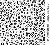 memphis doodle pattern seamless ...   Shutterstock .eps vector #2007387680