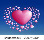 red   love  hearts    graphic | Shutterstock . vector #200740334