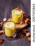 Golden Turmeric Milk With Ice....
