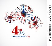 independence day background.... | Shutterstock .eps vector #200747054